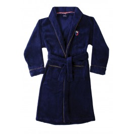 Donkerblauwe badjas tiener - maat 140-176