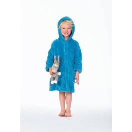 Kinderbadjas van Woody - blauw