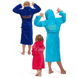 Kinderbadjas met naam - 5 kleuren