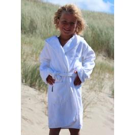 Kinderbadjas wit Kinderbadjassen BadrockdeLuxe