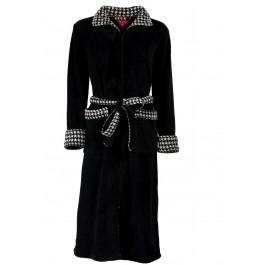 Lange badjas rits - zwarte badjas