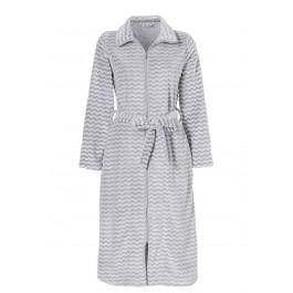 Fleece badjas rits - Lang model
