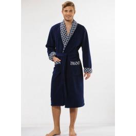 Luxe kamerjas heren marineblauw