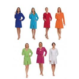 N.v.t. Badjas met rits in trendy kleuren