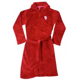 Kinderbadjas Rode kinderbadjas met rits