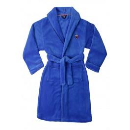 Felblauwe badjas tiener - maat 140-176