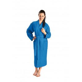Kobaltblauwe badjas pique