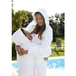 BadrockdeLuxe Witte badjas met capuchon