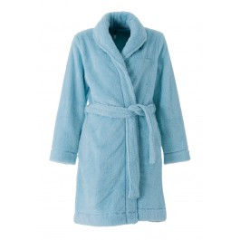Woody dames badjas ijsblauw