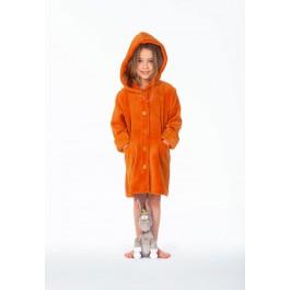 Kinderbadjas Woody kinderbadjas oranje