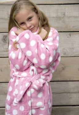 Little pink dottie / kinder badjas