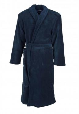 Blauwe badjas fleece