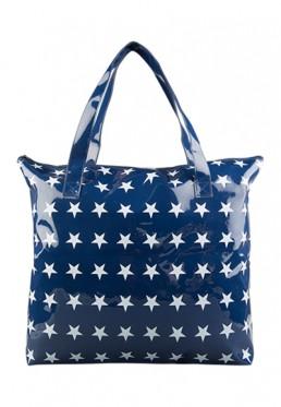 Blauwe badjas cadeau tas