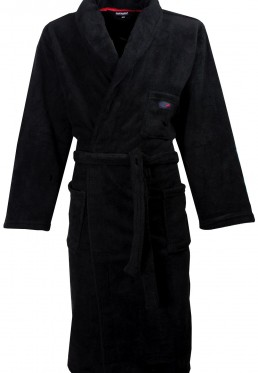Zwarte badjas fleece