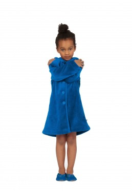 Woody kinderbadjas blauw