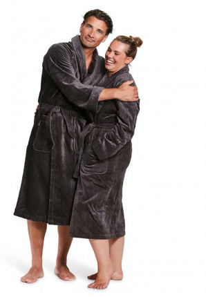 antraciet badjassen unisex badrock