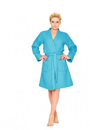 aquablauwe badjas dames kimono
