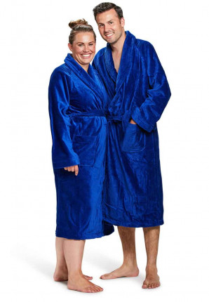 badjas kobaltblauw badrock