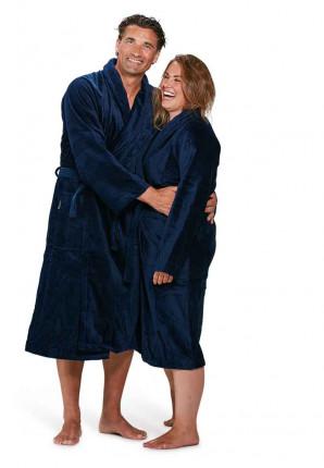 badjas marineblauw badrock