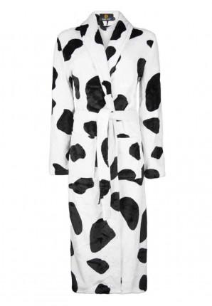 Koeienprint badjas