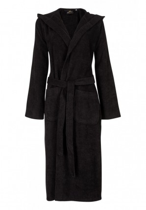 Unisex badjas zwart