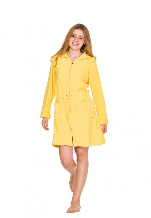 Gele badjas met rits