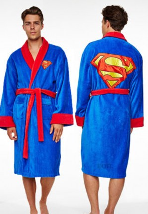 heren badjas met superman logo