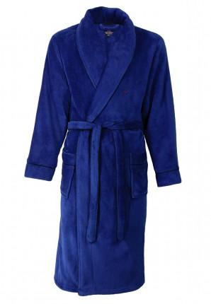 Koningsblauwe badjas fleece
