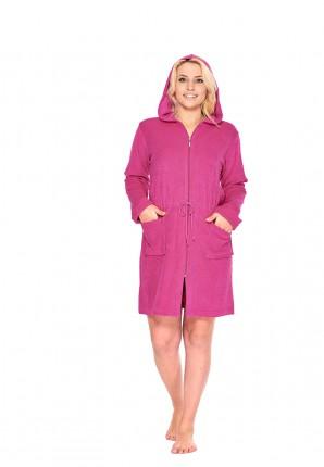 Roze badjas met rits