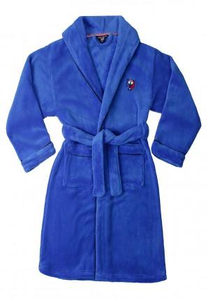 Jongens badjas fel blauw