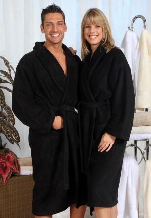 Grote maten badjas - zwarte badjas