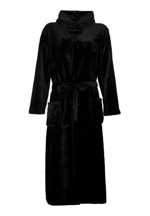 zwarte badjas capuchon