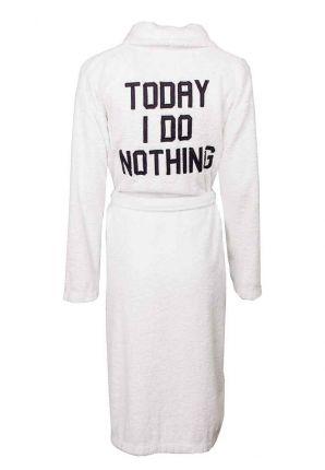 Witte badjas - Today I do nothing