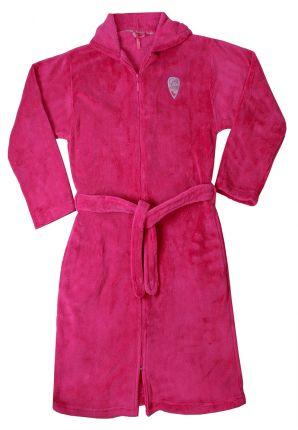 Roze kinderbadjas met rits