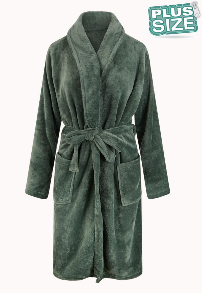 Plus size badjas unisex - olijfgroen-3Xl/4XL