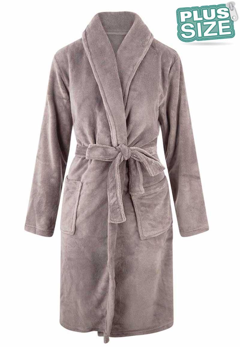Plus size badjas unisex - lichtgrijs-3Xl/4XL