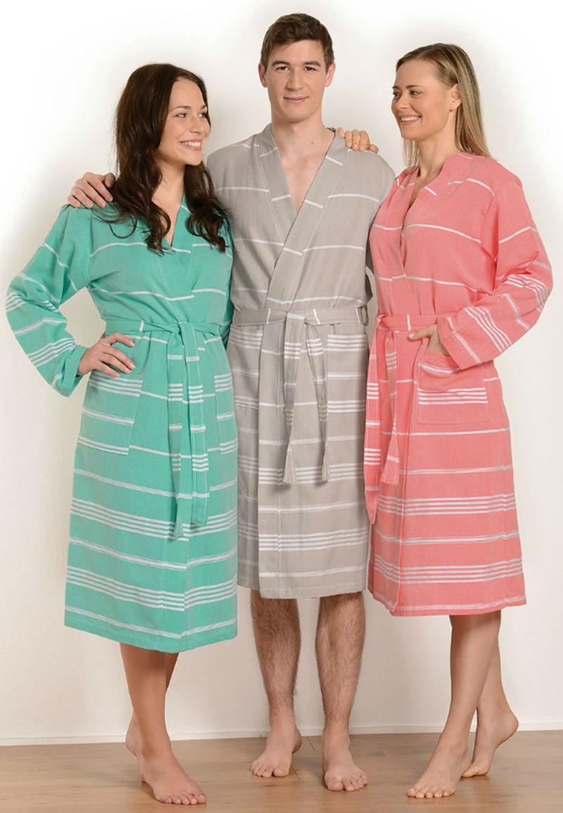 Hamam badjas in 3 kleuren-roze-xl