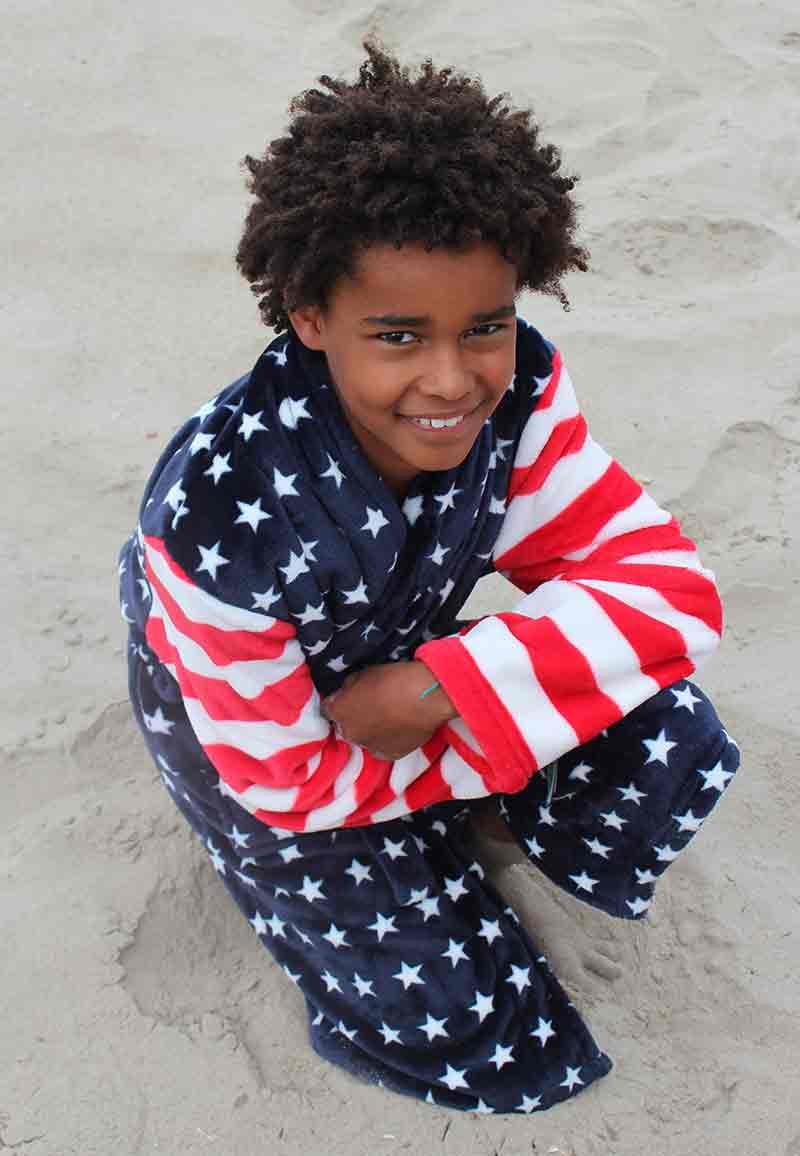 Kinderbadjas USA - L (9-10 jaar)