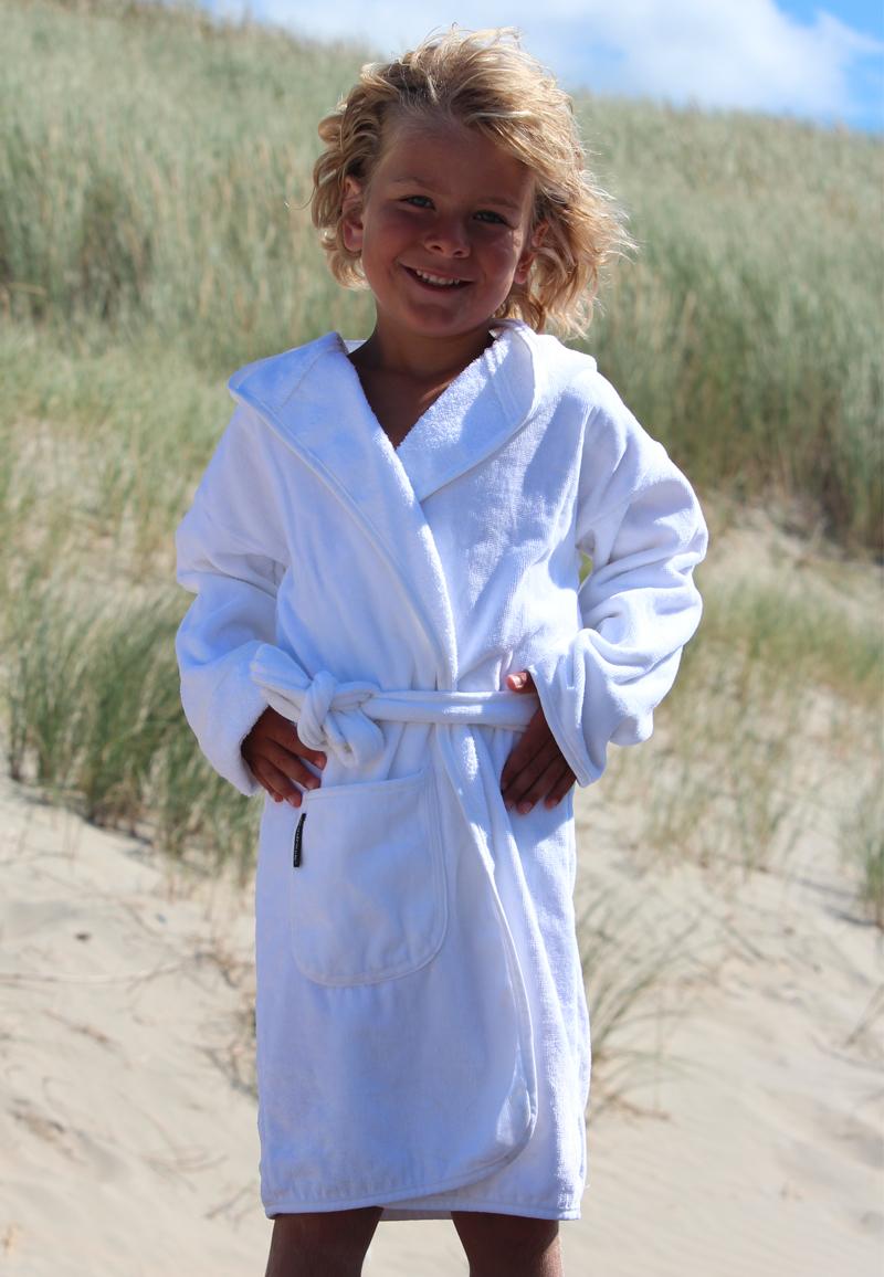 Kinderbadjas in diversen kleuren - Wit 0-12 maanden