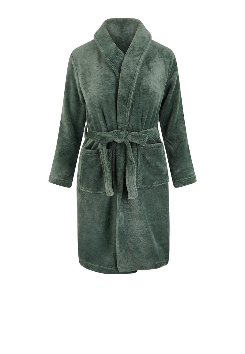 Groene kinderbadjas fleece-164/176 (XXL)