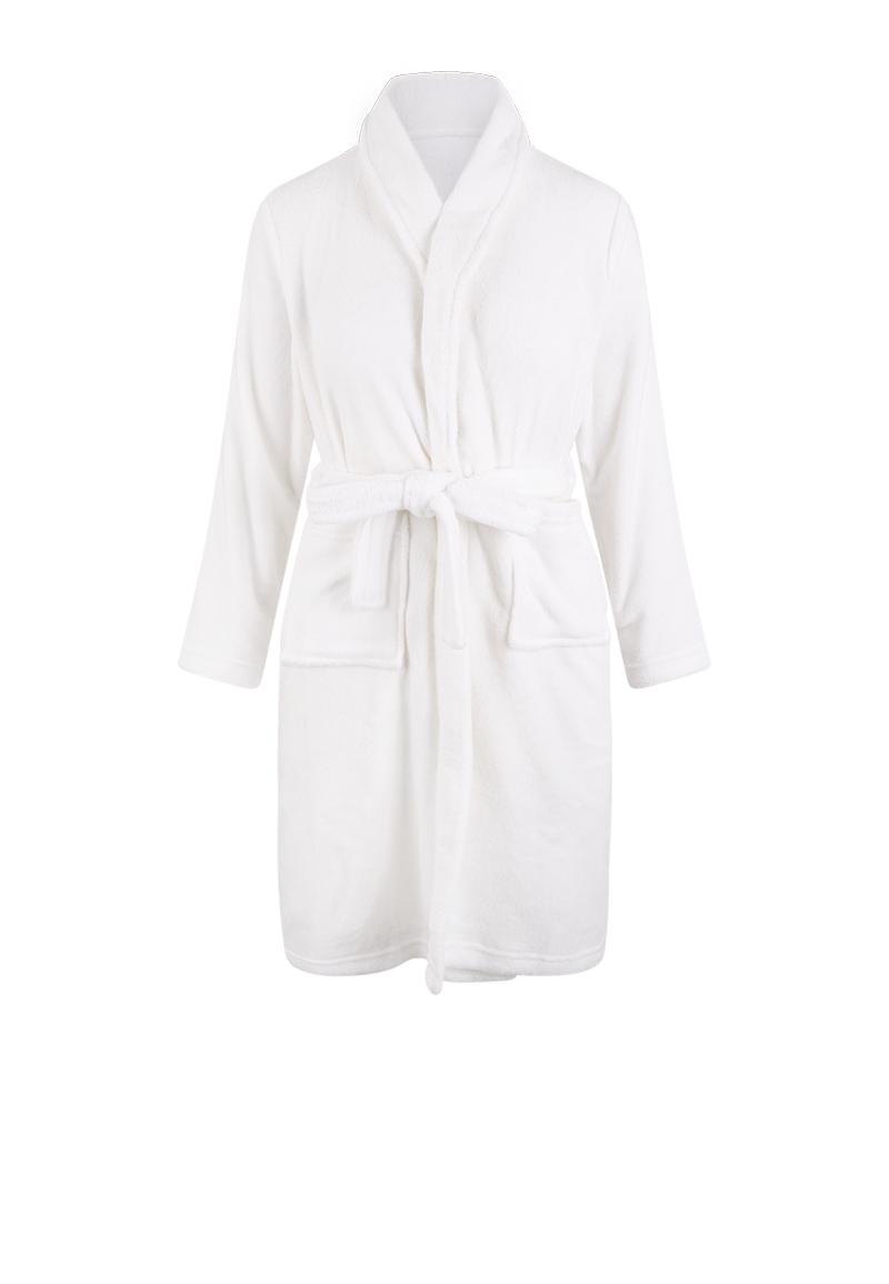Witte kinderbadjas fleece -110/116 (S)