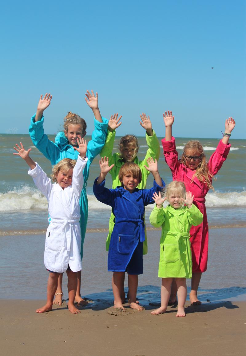 Kinderbadjas in diversen kleuren-kobaltblauw-2-4 jaar