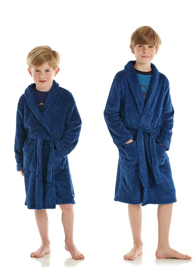 Kinderbadjas blauw-4 jaar