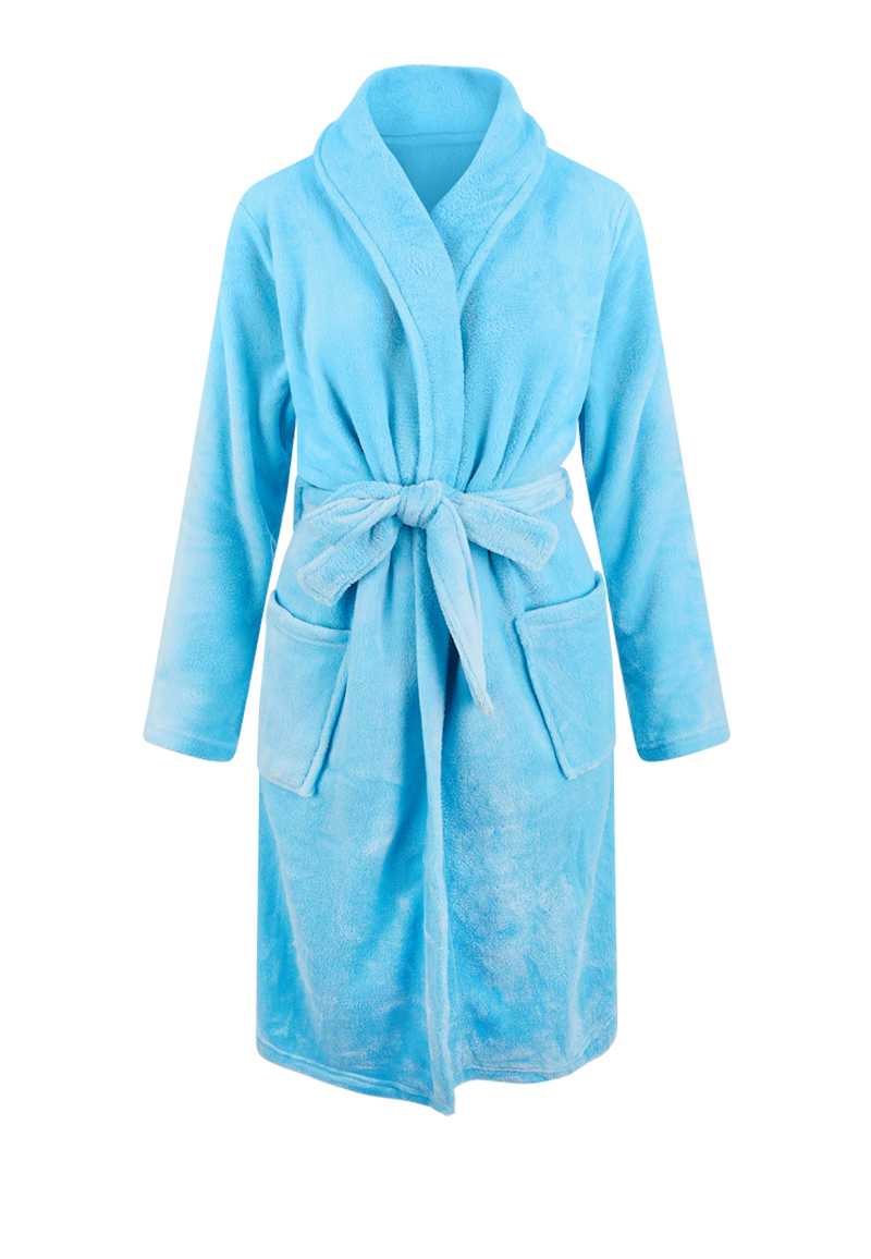 Lichtblauwe badjas fleece - unisex-xl/xxl