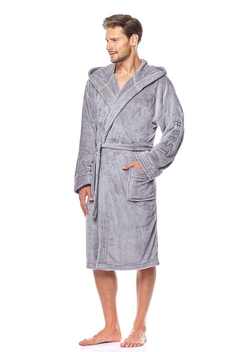 #Best badjas fleece lichtgrijs-xl