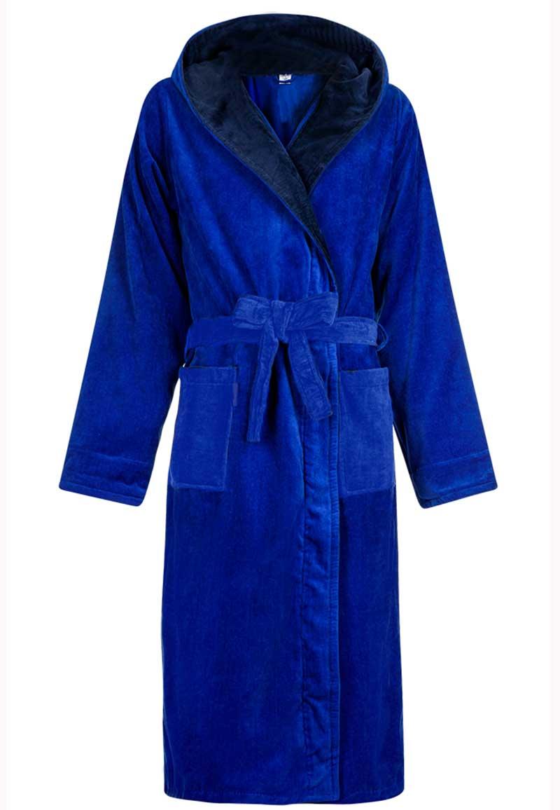 Badjassen met capuchon-kobalt blauw-xl/xxl