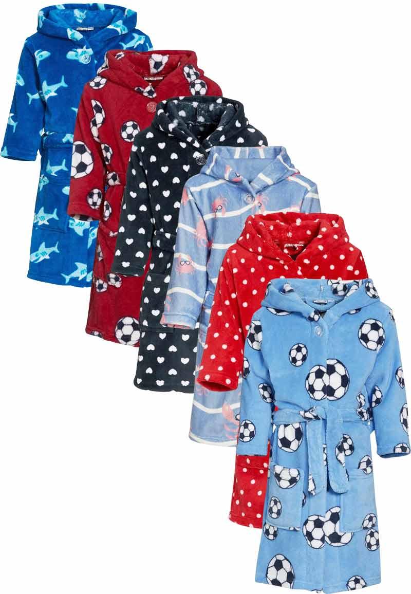 Kinderbadjassen met print-krab-146/152