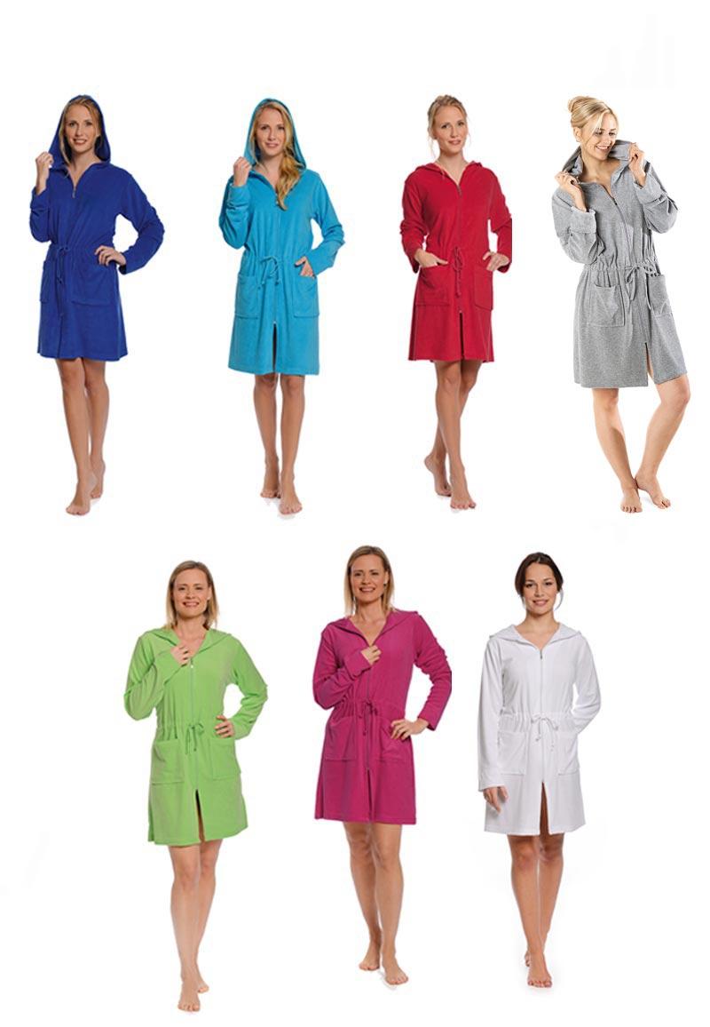 Badjas met rits in trendy kleuren - Aqua XXXL