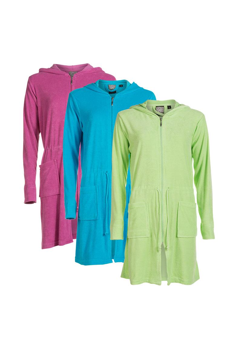 Rits badjas met naam-roze-xl