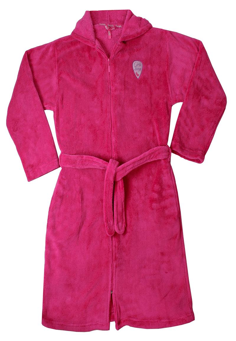 Roze kinderbadjas met rits-176